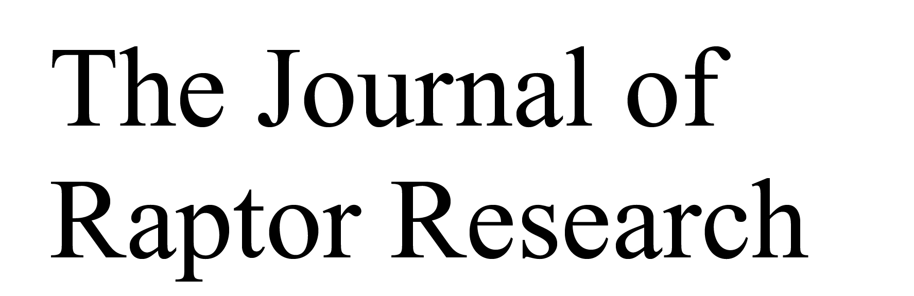 Journal of Raptor Research